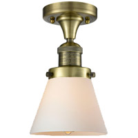 Innovations Lighting 517-1CH-AB-G61 Signature 1 Light 7 inch Antique Brass Flush Mount Ceiling Light, Small, Cone