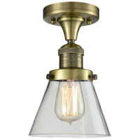 Innovations Lighting 517-1CH-AB-G62-LED Small Cone LED 7 inch Antique Brass Flush Mount Ceiling Light