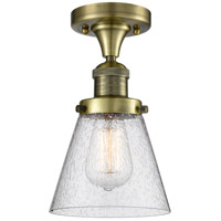 Innovations Lighting 517-1CH-AB-G64 Signature 1 Light 7 inch Antique Brass Flush Mount Ceiling Light, Small, Cone
