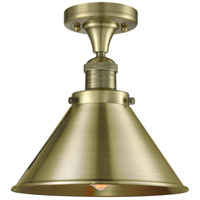 Innovations Lighting 517-1CH-AB-M10-AB-LED Briarcliff LED 10 inch Antique Brass Semi-Flush Mount Ceiling Light Franklin Restoration