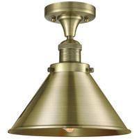 Innovations Lighting 517-1CH-AB-M10-AB Briarcliff 1 Light 10 inch Antique Brass Semi-Flush Mount Ceiling Light Franklin Restoration
