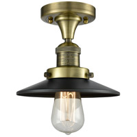 Innovations Lighting 517-1CH-AB-M6-LED Railroad LED 7 inch Antique Brass Semi-Flush Mount Ceiling Light Franklin Restoration