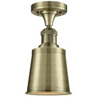 Innovations Lighting 517-1CH-AB-M9-AB-LED Addison LED 5 inch Antique Brass Semi-Flush Mount Ceiling Light Franklin Restoration