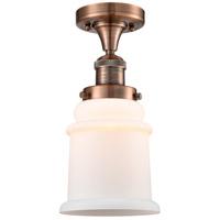 Innovations Lighting 517-1CH-AC-G181 Canton 1 Light 6 inch Antique Copper Semi-Flush Mount Ceiling Light Franklin Restoration