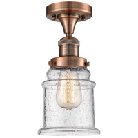 Canton LED 6 inch Antique Copper Semi-Flush Mount Ceiling Light