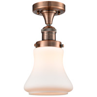 Innovations Lighting 517-1CH-AC-G191 Bellmont 1 Light 6 inch Antique Copper Semi-Flush Mount Ceiling Light Franklin Restoration