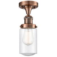 Innovations Lighting 517-1CH-AC-G314-LED Dover LED 5 inch Antique Copper Semi-Flush Mount Ceiling Light Franklin Restoration