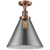 Innovations Lighting 517-1CH-AC-G43-L X-Large Cone 1 Light 12 inch Antique Copper Semi-Flush Mount Ceiling Light Franklin Restoration