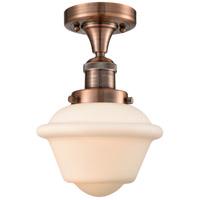 Innovations Lighting 517-1CH-AC-G531 Small Oxford 1 Light 8 inch Antique Copper Semi-Flush Mount Ceiling Light Franklin Restoration
