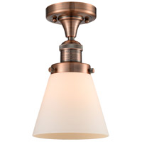 Innovations Lighting 517-1CH-AC-G61-LED Small Cone LED 7 inch Antique Copper Semi-Flush Mount Ceiling Light Franklin Restoration
