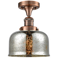 Innovations Lighting 517-1CH-AC-G78-LED Large Bell LED 8 inch Antique Copper Semi-Flush Mount Ceiling Light