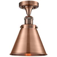 Innovations Lighting 517-1CH-AC-M13-AC Appalachian 1 Light 8 inch Antique Copper Semi-Flush Mount Ceiling Light Franklin Restoration