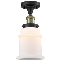 Innovations Lighting 517-1CH-BAB-G181 Canton 1 Light 6 inch Black Antique Brass Semi-Flush Mount Ceiling Light Franklin Restoration