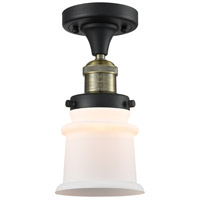 Innovations Lighting 517-1CH-BAB-G181S-LED Small Canton LED 6 inch Black Antique Brass Semi-Flush Mount Ceiling Light Franklin Restoration