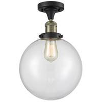 Innovations Lighting 517-1CH-BAB-G202-10 X-Large Beacon 1 Light 10 inch Black Antique Brass Semi-Flush Mount Ceiling Light Franklin Restoration