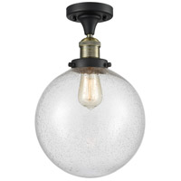 Innovations Lighting 517-1CH-BAB-G204-10 X-Large Beacon 1 Light 10 inch Black Antique Brass Semi-Flush Mount Ceiling Light Franklin Restoration