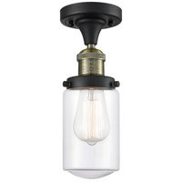 Innovations Lighting 517-1CH-BAB-G312-LED Dover LED 5 inch Black Antique Brass Semi-Flush Mount Ceiling Light Franklin Restoration