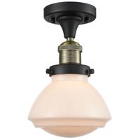 Innovations Lighting 517-1CH-BAB-G321 Olean 1 Light 7 inch Black Antique Brass Semi-Flush Mount Ceiling Light Franklin Restoration