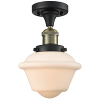 Innovations Lighting 517-1CH-BAB-G531 Small Oxford 1 Light 8 inch Black Antique Brass Semi-Flush Mount Ceiling Light, Franklin Restoration