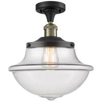 Innovations Lighting 517-1CH-BAB-G542 Large Oxford 1 Light 12 inch Black Antique Brass Semi-Flush Mount Ceiling Light Franklin Restoration