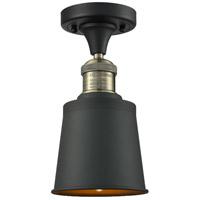 Innovations Lighting 517-1CH-BAB-M9-BK-LED Addison LED 5 inch Black Antique Brass Semi-Flush Mount Ceiling Light Franklin Restoration