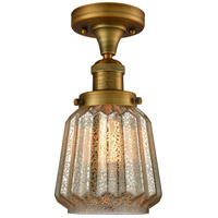 Brushed Brass Glass Chatham Semi-Flush Mounts