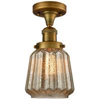 Innovations Lighting 517-1CH-BB-G146-LED Chatham LED 6 inch Brushed Brass Semi-Flush Mount Ceiling Light Franklin Restoration