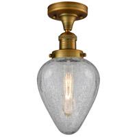 Innovations Lighting 517-1CH-BB-G165-LED Geneseo LED 7 inch Brushed Brass Semi-Flush Mount Ceiling Light Franklin Restoration