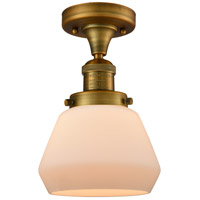 Innovations Lighting 517-1CH-BB-G171-LED Fulton LED 7 inch Brushed Brass Semi-Flush Mount Ceiling Light