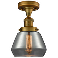 Innovations Lighting 517-1CH-BB-G173-LED Fulton LED 7 inch Brushed Brass Semi-Flush Mount Ceiling Light