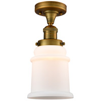 Innovations Lighting 517-1CH-BB-G181 Canton 1 Light 6 inch Brushed Brass Semi-Flush Mount Ceiling Light Franklin Restoration