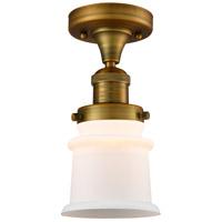 Innovations Lighting 517-1CH-BB-G181S Small Canton 1 Light 6 inch Brushed Brass Semi-Flush Mount Ceiling Light Franklin Restoration