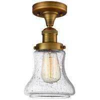 Innovations Lighting 517-1CH-BB-G194-LED Bellmont LED 6 inch Brushed Brass Semi-Flush Mount Ceiling Light Franklin Restoration