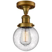 Innovations Lighting 517-1CH-BB-G204-6 Beacon 1 Light 6 inch Brushed Brass Semi-Flush Mount Ceiling Light Franklin Restoration