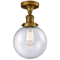 Innovations Lighting 517-1CH-BB-G204-8 Large Beacon 1 Light 8 inch Brushed Brass Semi-Flush Mount Ceiling Light Franklin Restoration