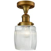 Innovations Lighting 517-1CH-BB-G302-LED Colton LED 6 inch Brushed Brass Semi-Flush Mount Ceiling Light Franklin Restoration