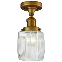 Brushed Brass Glass Colton Semi-Flush Mounts