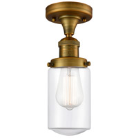Innovations Lighting 517-1CH-BB-G312 Dover 1 Light 5 inch Brushed Brass Semi-Flush Mount Ceiling Light Franklin Restoration