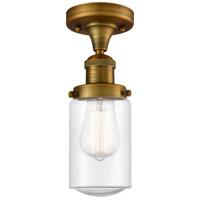 Innovations Lighting 517-1CH-BB-G314-LED Dover LED 5 inch Brushed Brass Semi-Flush Mount Ceiling Light Franklin Restoration