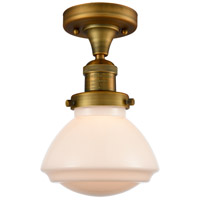 Brushed Brass Glass Olean Semi-Flush Mounts