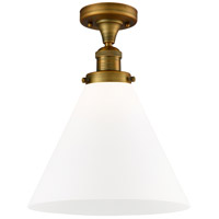 Innovations Lighting 517-1CH-BB-G41-L X-Large Cone 1 Light 12 inch Brushed Brass Semi-Flush Mount Ceiling Light Franklin Restoration