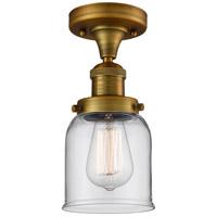 Innovations Lighting 517-1CH-BB-G52-LED Small Bell LED 5 inch Brushed Brass Semi-Flush Mount Ceiling Light Franklin Restoration