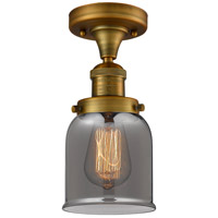 Innovations Lighting 517-1CH-BB-G53-LED Small Bell LED 5 inch Brushed Brass Semi-Flush Mount Ceiling Light Franklin Restoration