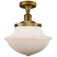 Innovations Lighting 517-1CH-BB-G541-LED Large Oxford LED 12 inch Brushed Brass Semi-Flush Mount Ceiling Light Franklin Restoration