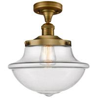 Innovations Lighting 517-1CH-BB-G542 Large Oxford 1 Light 12 inch Brushed Brass Semi-Flush Mount Ceiling Light Franklin Restoration