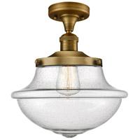 Innovations Lighting 517-1CH-BB-G544 Large Oxford 1 Light 12 inch Brushed Brass Semi-Flush Mount Ceiling Light Franklin Restoration