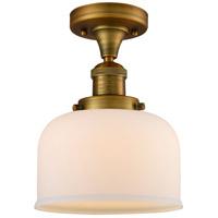 Innovations Lighting 517-1CH-BB-G71-LED Large Bell LED 8 inch Brushed Brass Semi-Flush Mount Ceiling Light Franklin Restoration