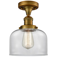 Innovations Lighting 517-1CH-BB-G72-LED Large Bell LED 8 inch Brushed Brass Semi-Flush Mount Ceiling Light Franklin Restoration