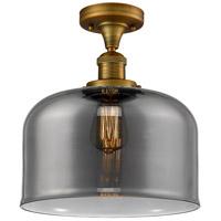 Innovations Lighting 517-1CH-BB-G73-L X-Large Bell 1 Light 12 inch Brushed Brass Semi-Flush Mount Ceiling Light Franklin Restoration
