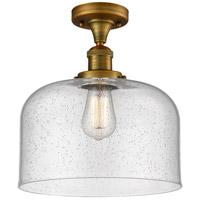 Innovations Lighting 517-1CH-BB-G74-L X-Large Bell 1 Light 12 inch Brushed Brass Semi-Flush Mount Ceiling Light Franklin Restoration